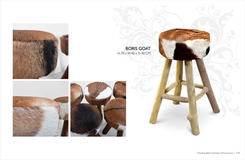 Boris Goat Stool